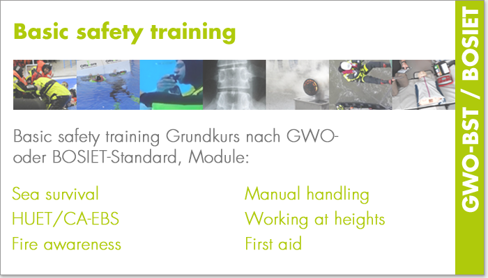 Basic safety training (GWO-BST/BOSIET)