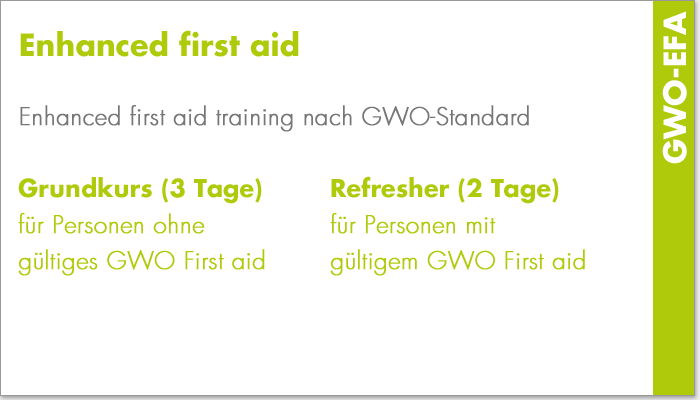 Enhanced first aid (GWO-EFA)